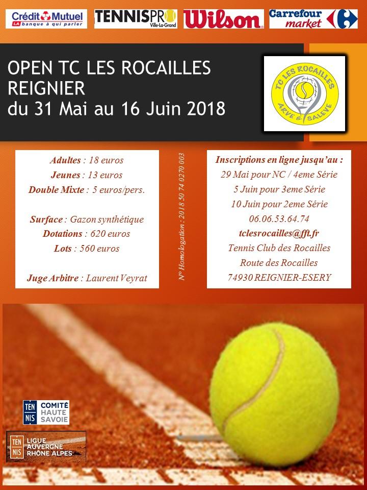 Tournoi du TC les Rocailles 2018