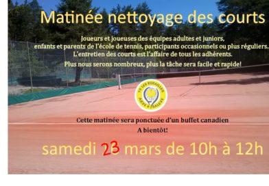 Matinée nettoyage 23/03/2019
