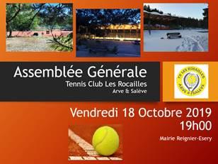 AG du TC les Rocailles 18/10 à 19h