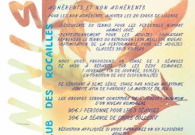 Stages adultes Toussaint 2019