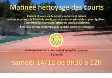 Matinée nettoyage 14/12/2019